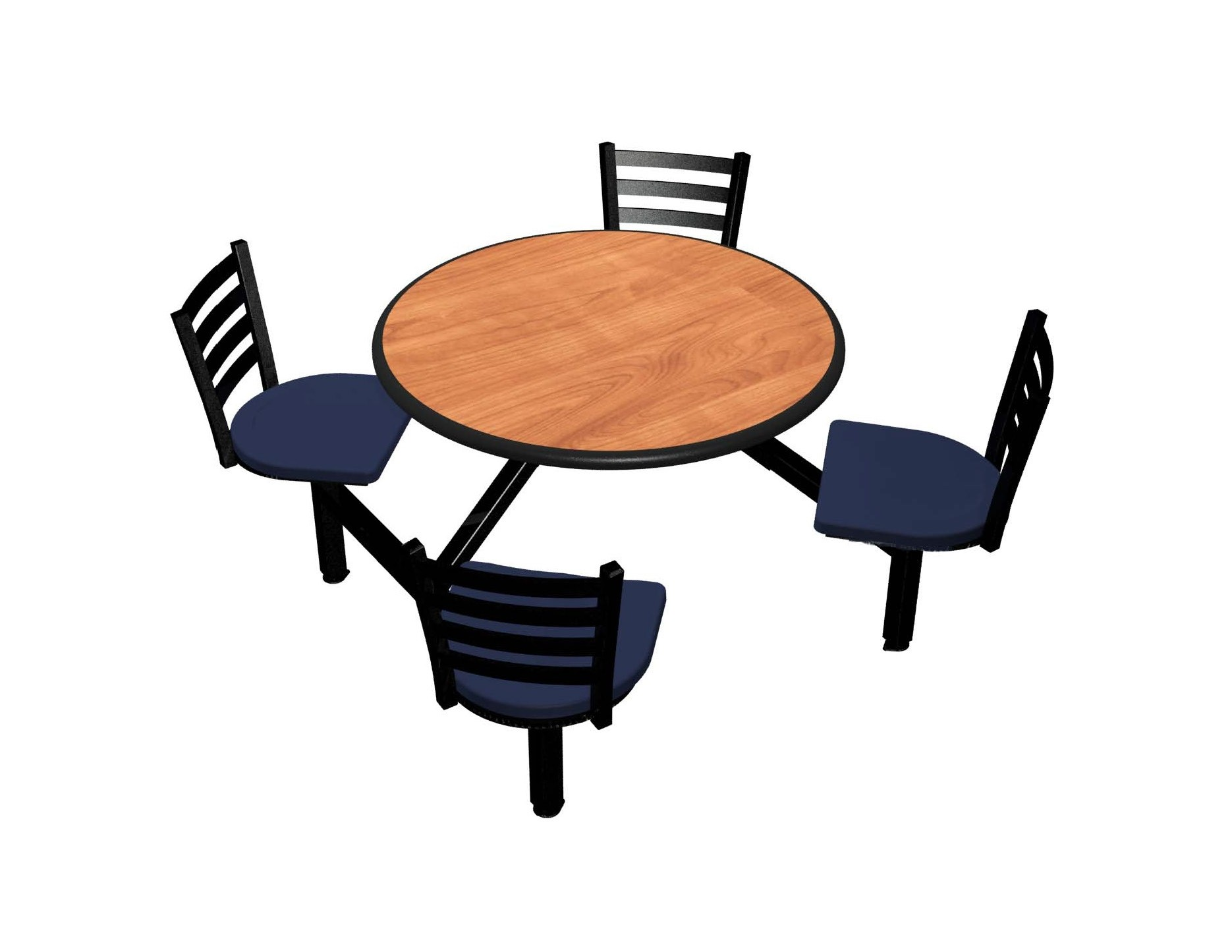 Wild Cherry laminate table top, Black Dur-A-Edge® , Encore chairhead with Atlantis seat
