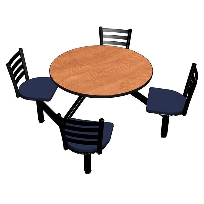 Wild Cherry laminate table top, Black Dur-A-Edge® , Encore chairhead with Atlantis seat