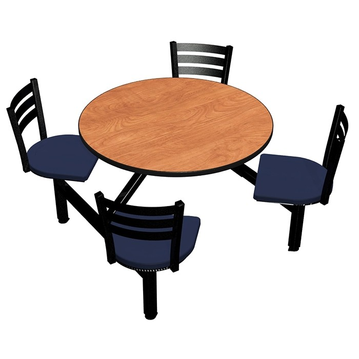 Wild Cherry laminate table top, Black Dur-A-Edge® , Quest chairhead with Atlantis seat