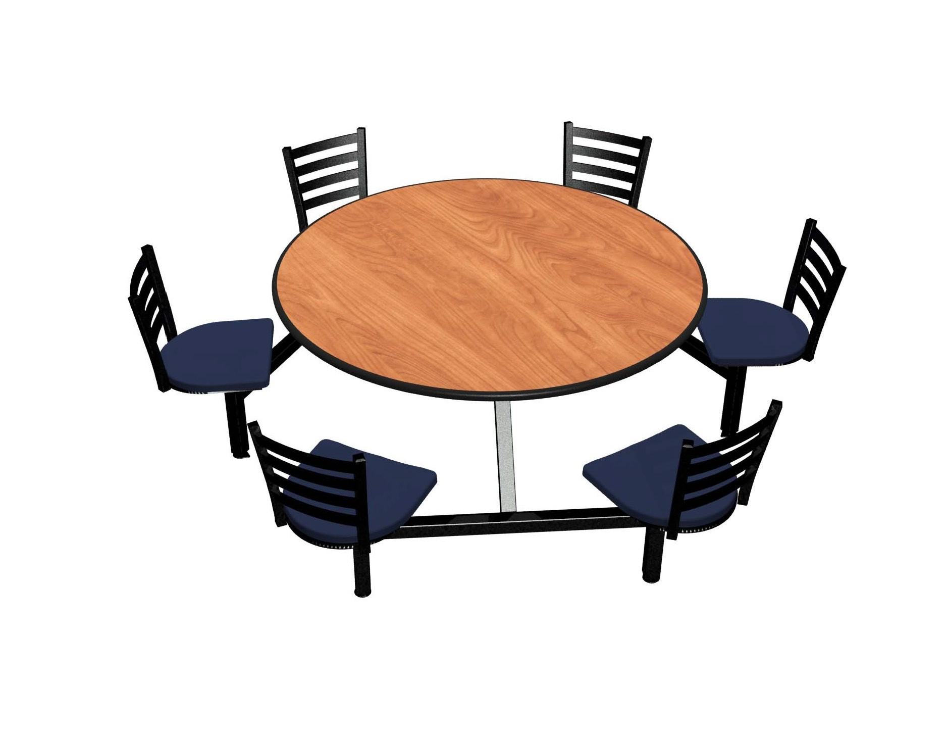 Wild Cherry laminate table top, Black Dur-A-Edge®, Encore chairhead with Atlantis seat