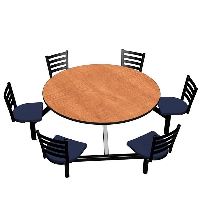 Wild Cherry laminate table top, Black Dur-A-Edge®, Encore chairhead with Atlantis seat
