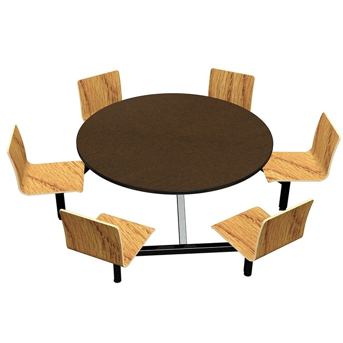Morro Zephyr laminate table, Black Dur-A-Edge, Natural Oak laminate chairhead