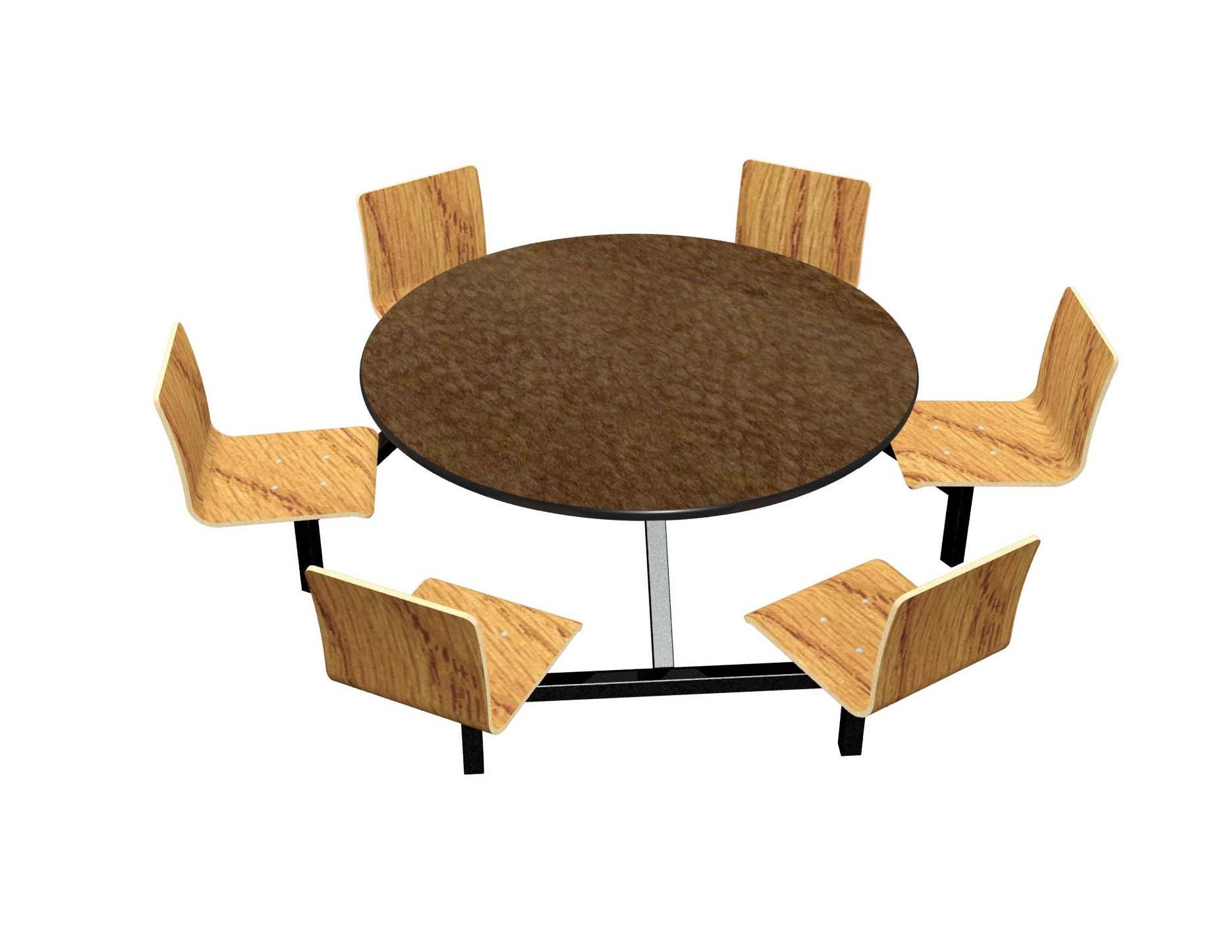 Morro Zephyr laminate table, Black vinyl edge, Natural Oak laminate chairhead