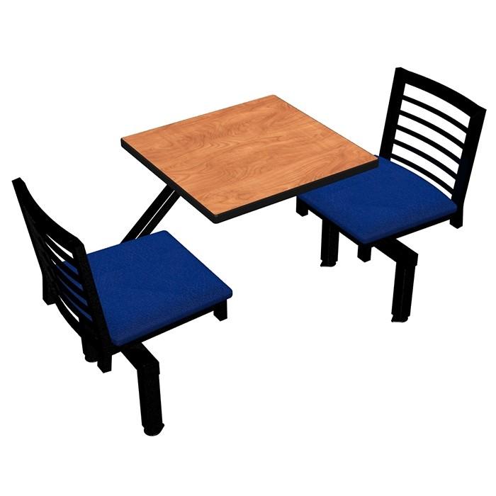 Wild Cherry laminate, Black Dur-A-Edge®, Latitude chairhead with Bluejay seat