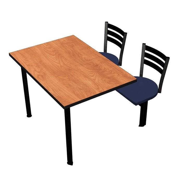 Wild Cherry laminate, Black Dur-A-Edge®, Quest chairhead with Atlantis seat