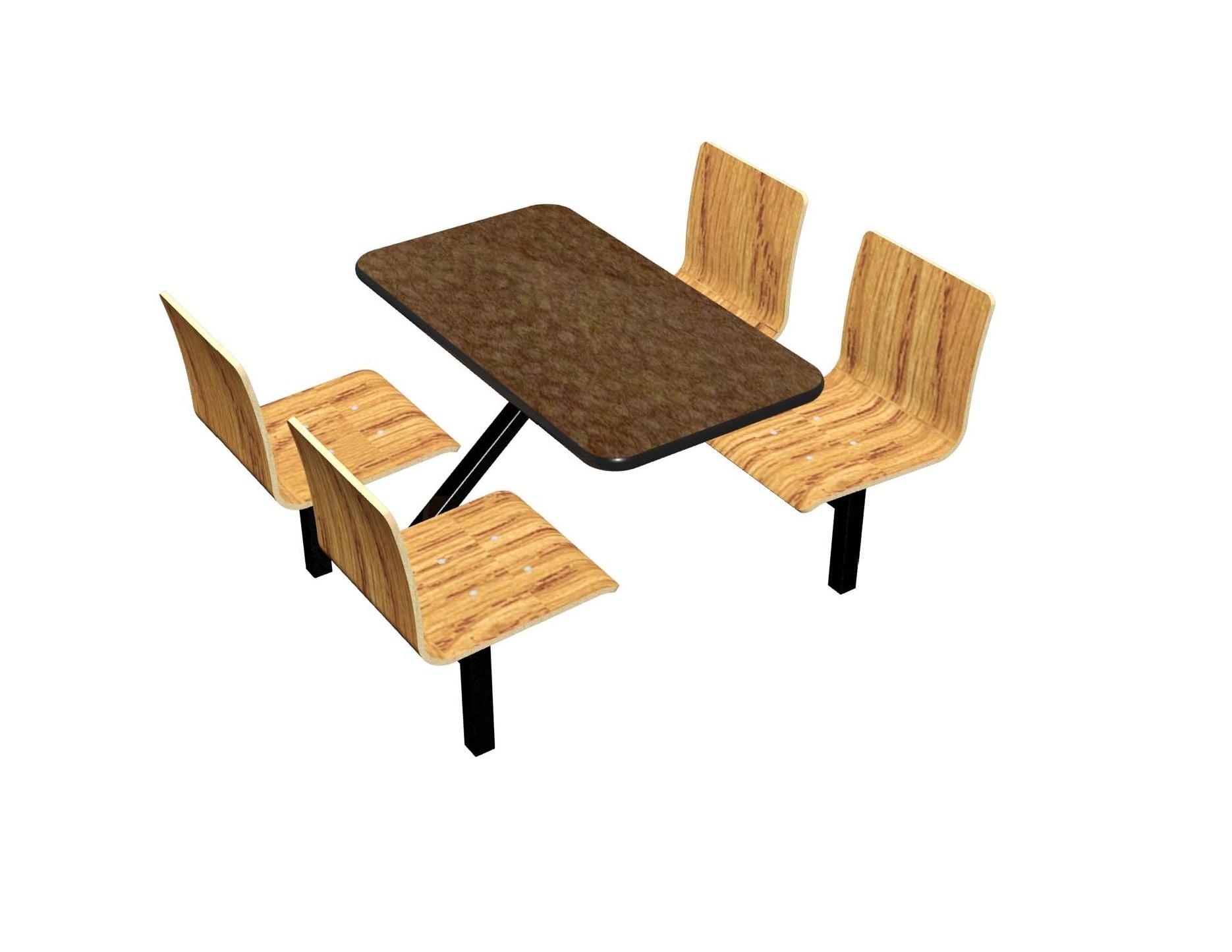 Morro Zephyr laminate table, Black vinyl edge, Natural Oak laminae chairhead