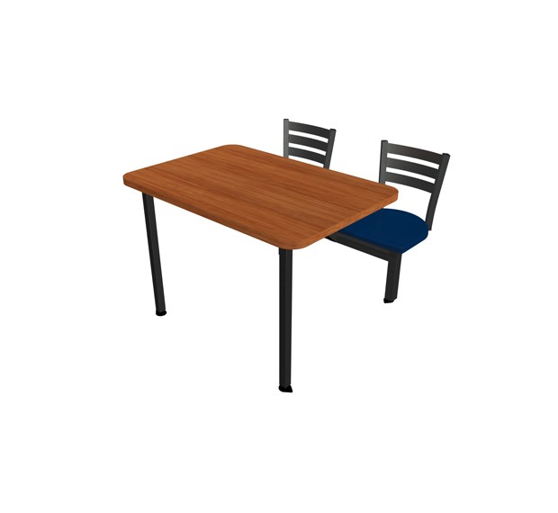 Jupiter Seat ADA Unit With Laminate Self Edge Table Quest - Ada restaurant table