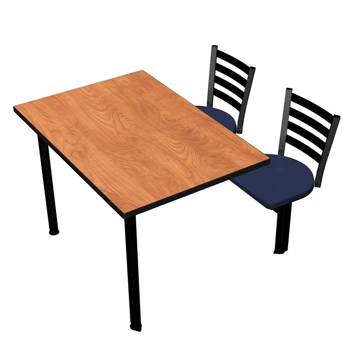 Wild Cherry laminate, Black Dur-A-Edge®, Encore chairhead with Atlantis seat