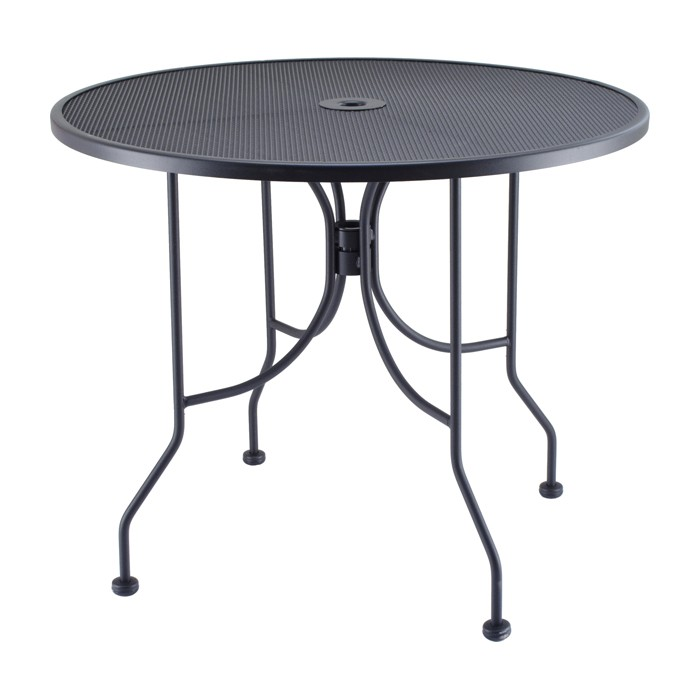 "CLEARANCE - Outdoor 36"" Round Mesh Outdoor Table & Base"