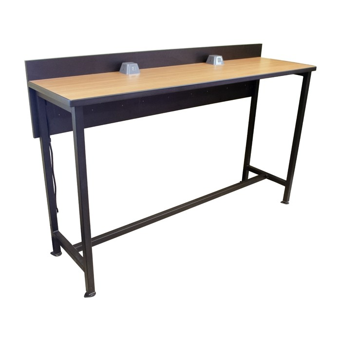 Powered Dining Counter 72 Quot Long Bar Height Restaurant