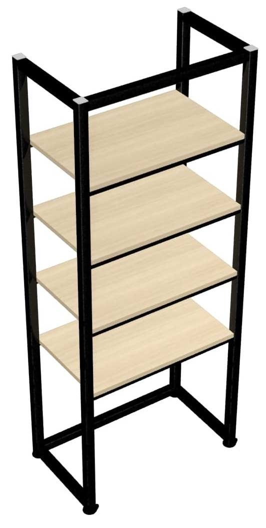 Beigewood shelves and Onyx Black frame