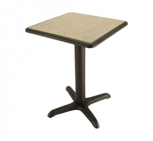 Laminate table top, Black Dur-A-Edge® - 24x24 size shown