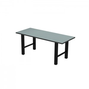 Hero dining height communal table, Black thin profile Dur-A-Edge, Onyx Black base