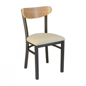 Onyx Black frame, Natural vinyl seat, Natural oak back