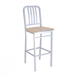 Silver Bullet frame with natural beech seat, front angle view
