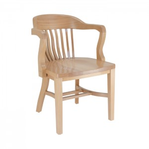 Jury Arm Chair with Wood Saddle Seat