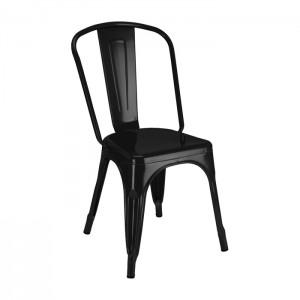 Calais Metal Dining Chair - Black