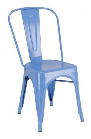 Calais Metal Dining Chair - Blue