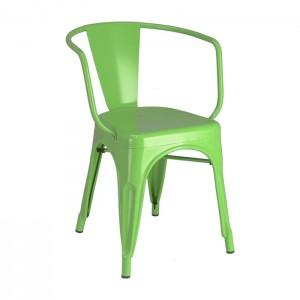 Calais arm chair - front angle - green