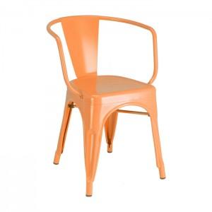 Orange Calais arm chair - front angle