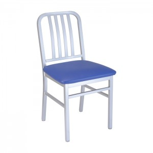 Silver Bullet frame with Blue Jay vinyl seat