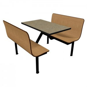 Monticello Maple benches, Bronze Legacy table top with Black Dur-A-Edge