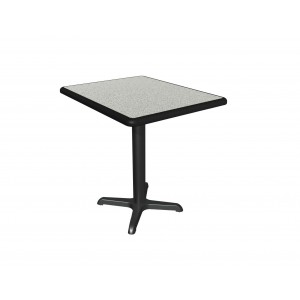 Grey Nebula laminate table top, Black Dur-A-Edge, base sold separately
