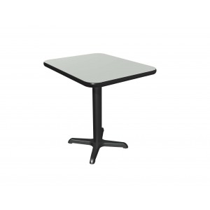 Dove Grey laminate table top, Black vinyl edge