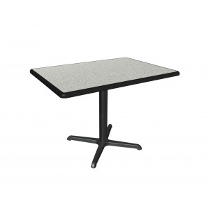 Dove Grey laminate table top, Black Dur-a-Edge