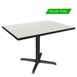 White Nebula table top with black thin profile Dur-A-Edge