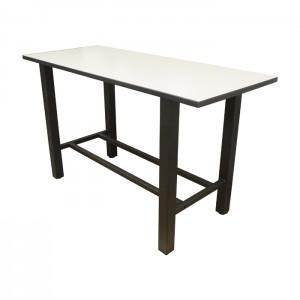 Crisp Linen laminate top, Black thin profile Dur-A-Edge, Onyx Black frame