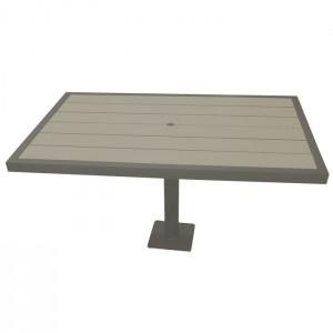Aurora Outdoor Iron Glimmer picnic table