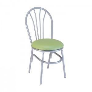 Silver Metallic frame, Leapfrog upholstered seat