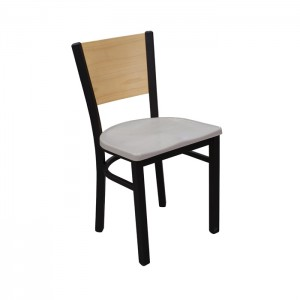 Onyx Black frame, Concrete composite seat, Natural oak back