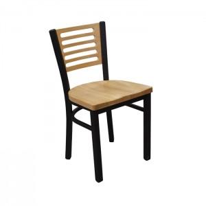Onyx Black frame, Natural oak seat and back