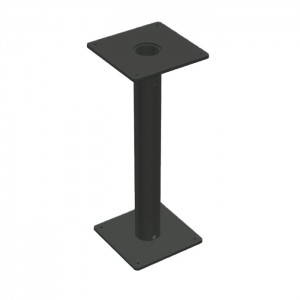 Aurora Dining Height Bolt-Down Table Base - Onyx Black Frame