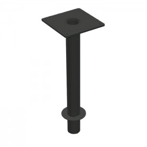 Aurora Dining Height Grout-In Table Base - Onyx Black