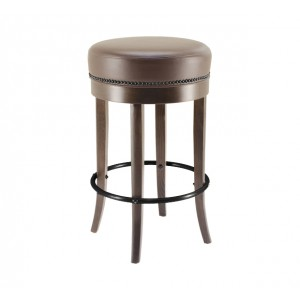 Pub Barstool with Upholstered Seat