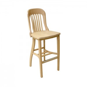 Jury Barstool with Wood Saddle Seat
