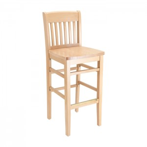 Natural Stain Commercial Bar Stool
