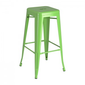 Green Calais Backless Barstool