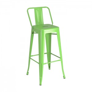 Calais Low Back Barstool - green - front angle
