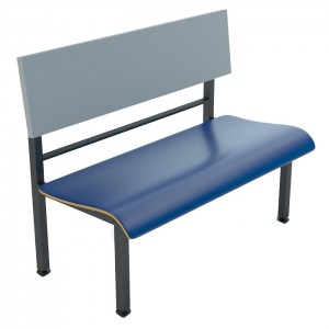 Atlantis bench, North Sea back, Onyx Black Frame