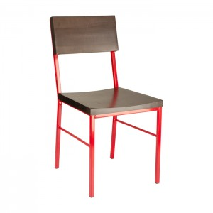 Truffle Stain, Red Frame Aspen Chair