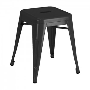 Black Calais Dining Stool