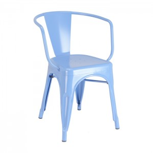Calais arm chair - front angle - blue