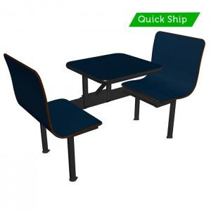 Atlantis laminate bench, Atlantis laminate table, black vinyl edge