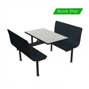 Grahpite Nebula bench, Dove Grey table top, Black DAE
