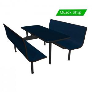 Atlantis laminate benches, Atlantis laminate table, black vinyl edge