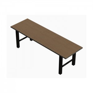 Hero communal table with laminate top, Black thin profile Dur-A-Edge®